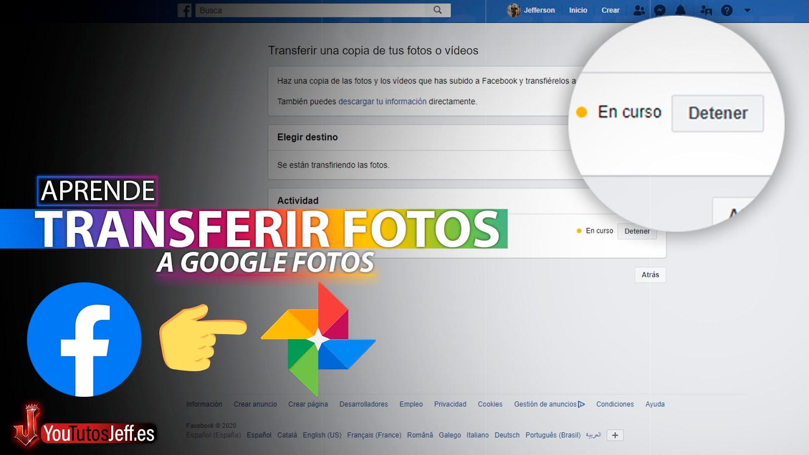 Pasar Todas las FOTOS DE FACEBOOK a Google Fotos