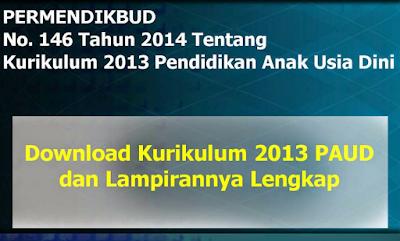 Permendikbud 146 Tahun 2014 Tentang Kurikulum 2013 PAUD Lengkap Terbaru