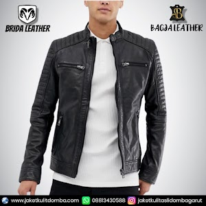 Jual Jaket Kulit Asli Garut Pria Domba Original Brida Leather B106 | WA 08813430588