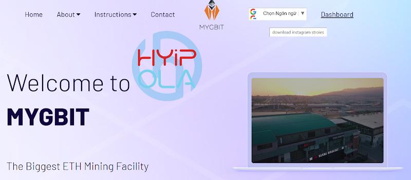 [SCAM] Review MygBit - Dự án Mining ETH đến từ Thổ Nhĩ Kỳ - Up 0.5% hằng ngày