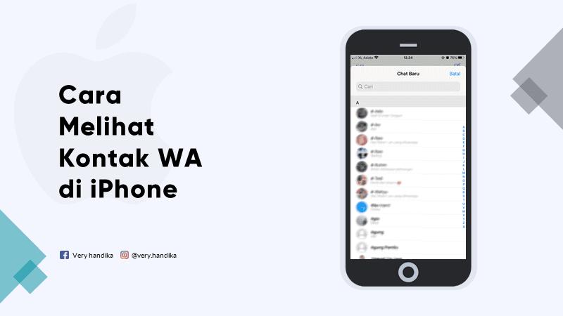 cara melihat kontak wa di iphone