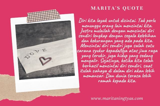 self love quote by marita ningtyas