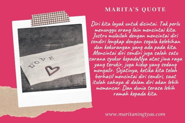self love quote by marita ningtyas