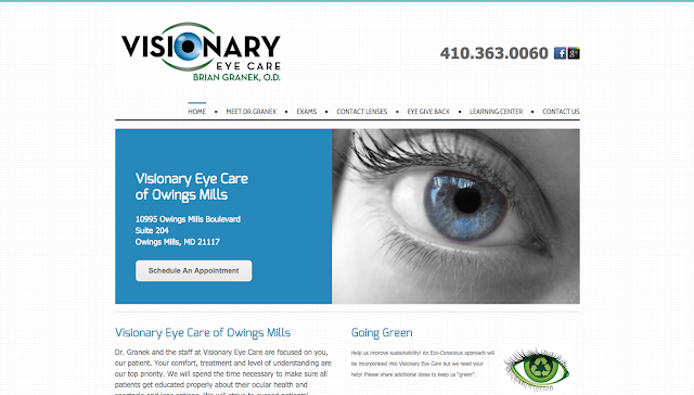 OWINGS MILLS WEB DESIGNERS RANDY TUGGLE for VISIONARY EYE CARE