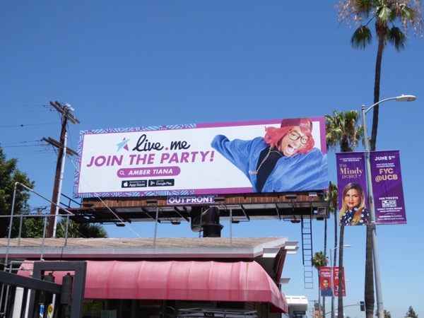 Live me app Join the Party billboard