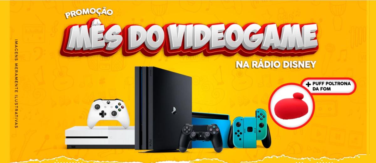 Promoção Rádio Disney Dia das Crianças 2020 Mês do Video Game - Trio Rádio Disney