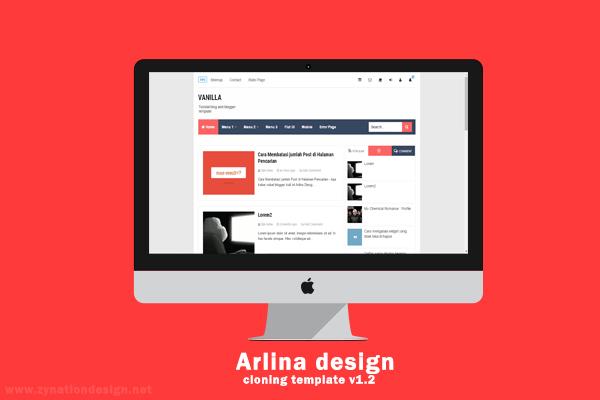 Update : Template Cloning Arlina Desain V. 2.0 Free Premium