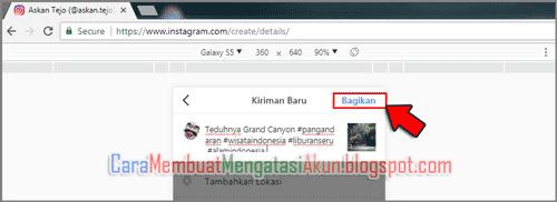 cara posting foto di instagram via pc tanpa aplikasi