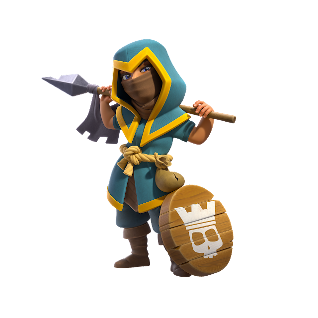 Clash of Clans Royale Champion Rogue champion skin render png