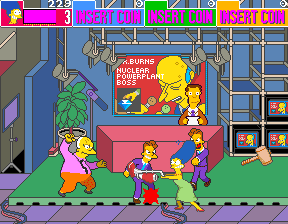The Simpson+arcade+game+portable+retro+download free+videojuego+descargar gratis