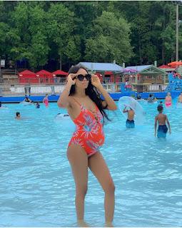 Yomi Casual's Wife Flaunts Her Baby Bump In Sexy Swimwear