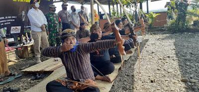 Persatuan Panahan Indonesia (Perpani) Kabupaten Purbalingga Gelar Latihan Panahan Tradisional