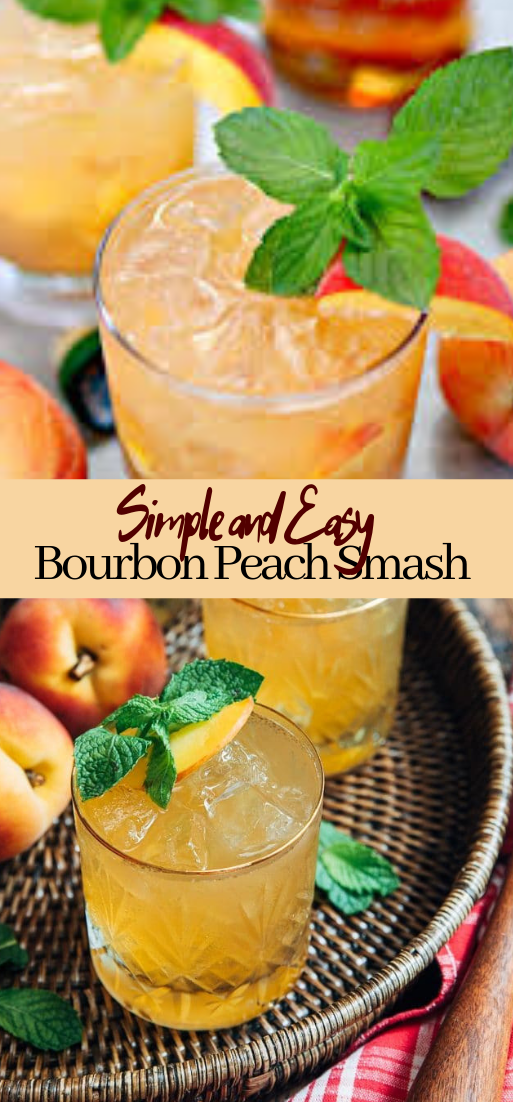 Bourbon Peach Smash #healthydrink #easyrecipe #cocktail #smoothie