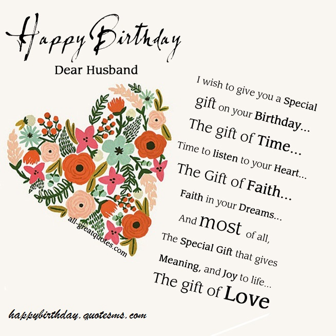 Facebook Birthday Wishes For Husband Happy Quotes SMS Messages And Images