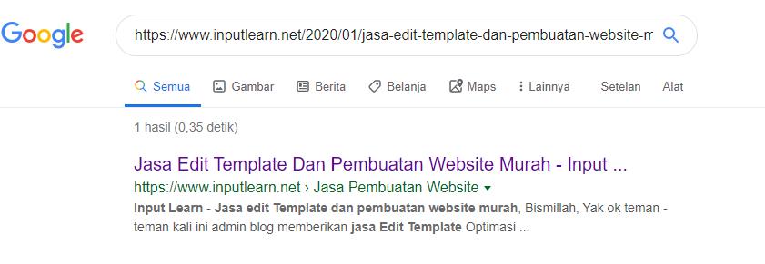 2 Cara Mengecek Artikel Kita Sudah Di Index Google Atau Belum