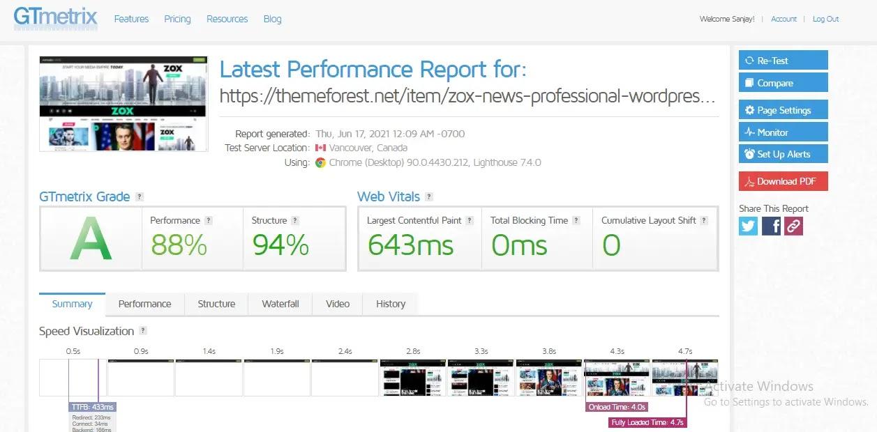 zox-news-wordpress-theme-web-speed-test