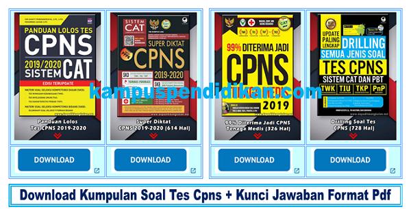 Download Kumpulan Soal Cpns 2019 Kunci Jawaban Format Pdf Lengkap Dengan Simulasi Online Kampus Pendidikan