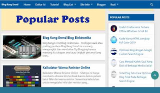 Modifikasi Widger Popular Posts Bawaan Blogger