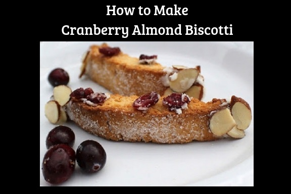 this is how to make an authentic Italian biscotti homemade using cranberries and almonds