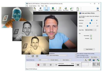 تحويل برنامج تسجيل الفيديو من شاشة الكمبيوتر او الكاميرات NCH Debut