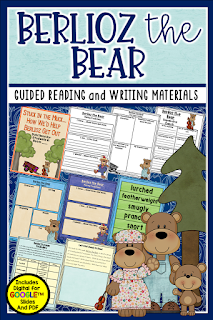 Berlioz the Bear by Jan Brett is a classic story and is one of the featured books in this fun blog post using a bear theme. Check it out for fun free resources, book tips, and activities.