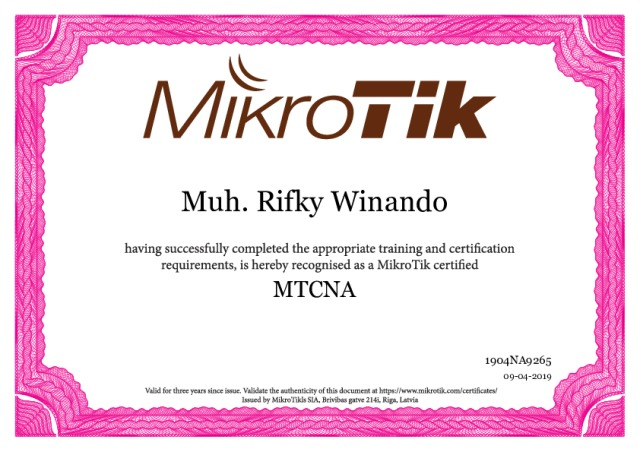 Tips Mengikuti Sertifikasi MTCNA MikroTik