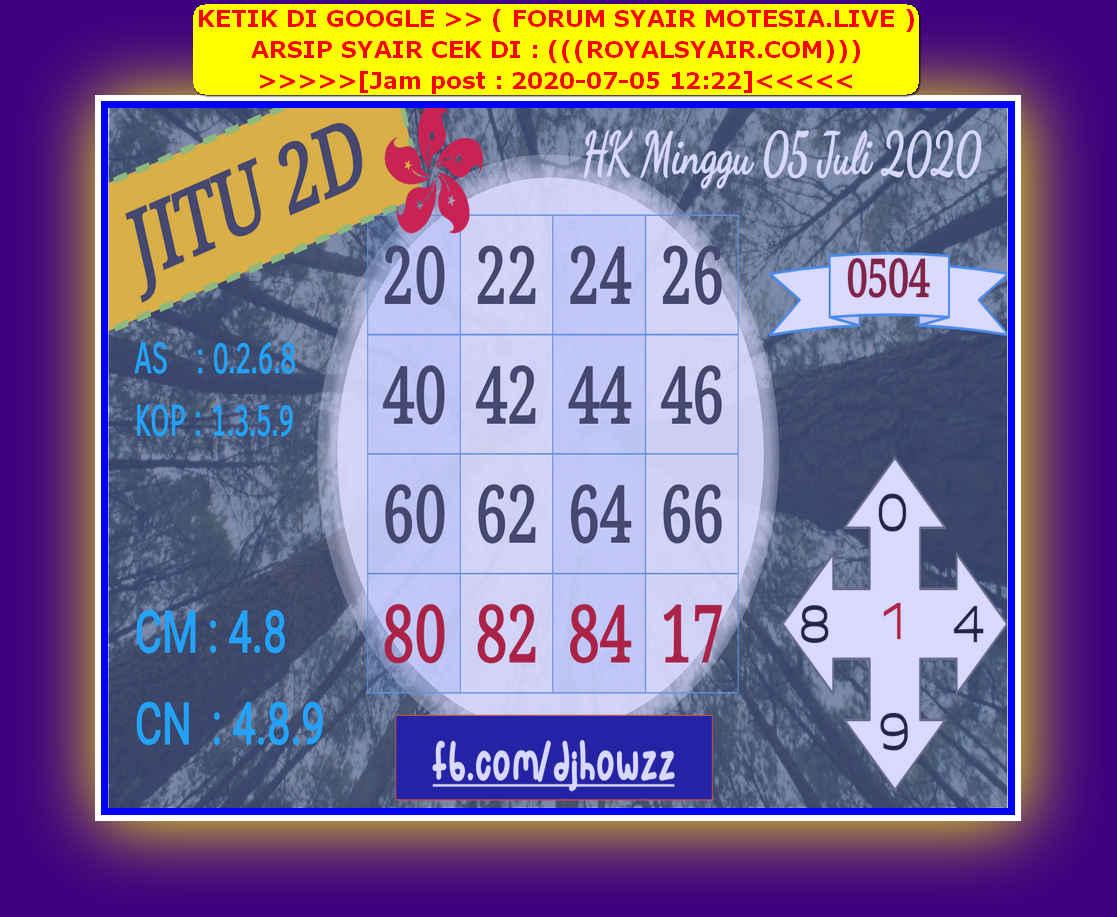 Kode syair Hongkong Minggu 5 Juli 2020 95