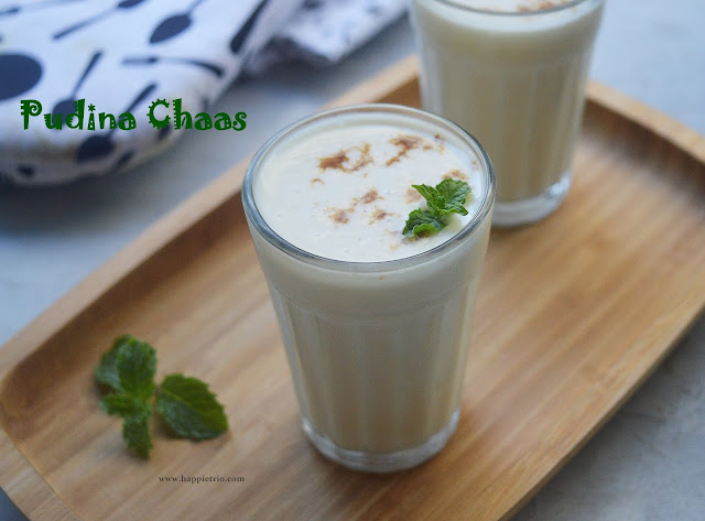 Pudina Chaas Recipe | Mint Buttermilk | How to make mint flavored Buttermilk