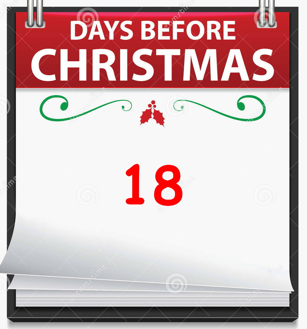 continuing our crumby countdown till christmas 18 shopping days left