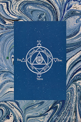 alchimie, tétramorphe, mandala, lion, air, taureau, aile, terre, feu, eau, Empédocle