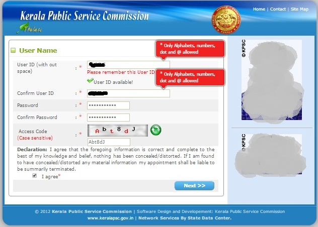 Kerala Psc Thulasi One Time Registration -Final Step  - Step 9