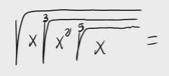 39.Expresión como una única raíz