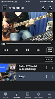 Pocket GT は簡単に YouTube やスマートフォンの音源とのセッションが可能