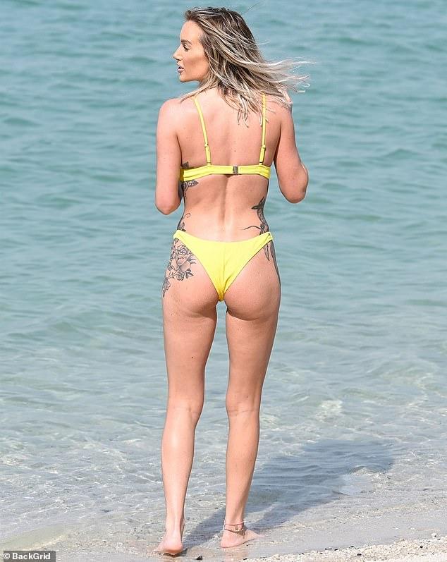 Laura Anderson bares curves in a skimpy bikini in Dubai