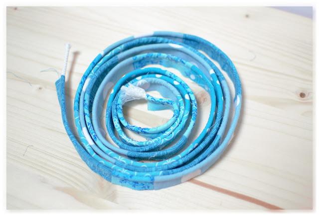 passepoil maison en patchworks tissus bleus