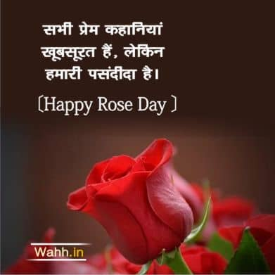 Rose Day Quotes Messages for Wife  In Hindi
