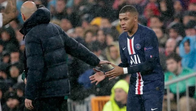 Zidane and Mbappe take the lead in the Real Madrid match. Picture