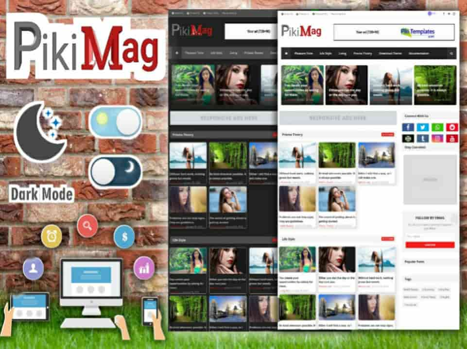 Piki Mag Template