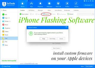 iPhone Flashing Software (Flash Tool) Latest Version Free Download