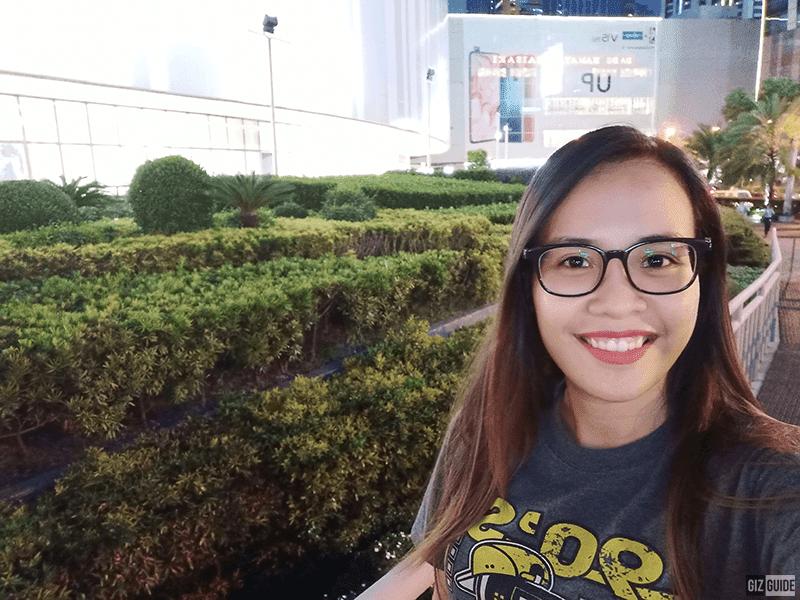 A low light selfie sample