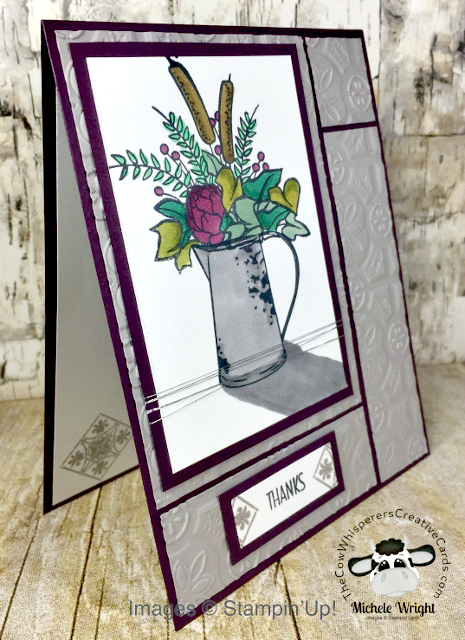 Card, Country Home, Rustic, Watering Can, Stampin Blends