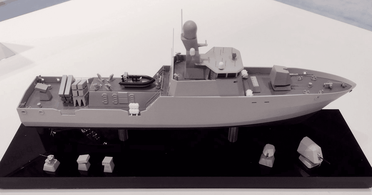 Модель ракетного катера від Babcock. Фото: Harry Lye