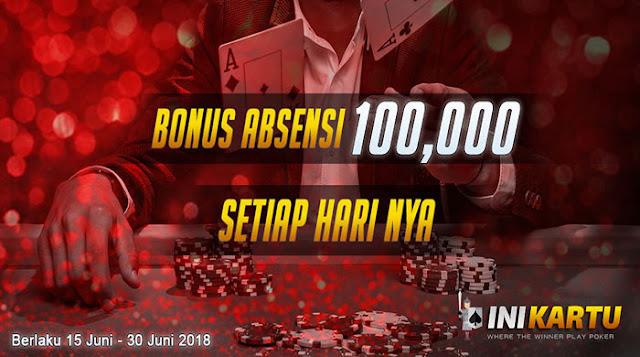 freebet agen poker inikartu bonus 100 ribu
