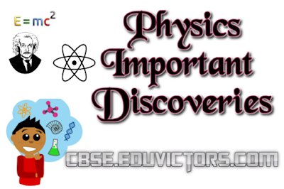PHYSICS: IMPORTANT DISCOVERIES(#eduvictors)(#cbsenotes)