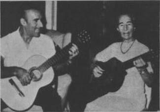 Edmundo Rivero con su madre