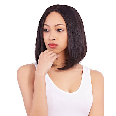 8A Premium Bob Wig With Middle Part Brazilian Hair Straight Hair