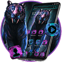 Neon Devil Tiger Theme  Apk free Download for Android