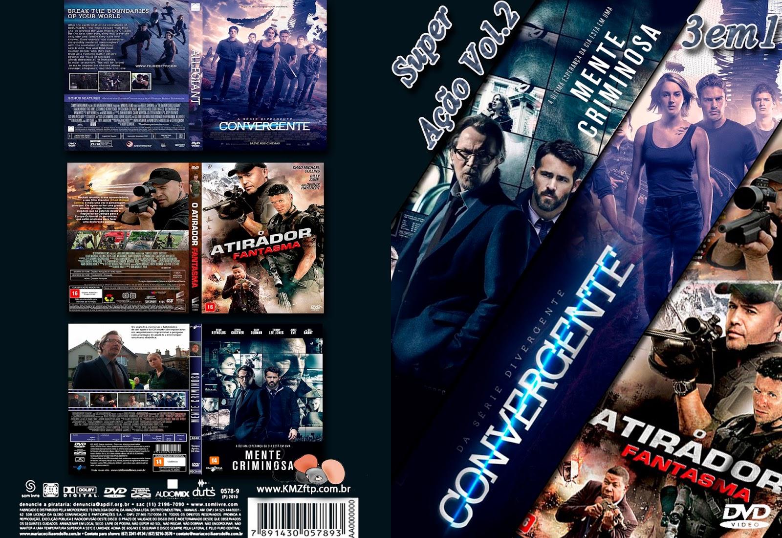 Super Ação Vol.2 3x1 DVD-R SUPER 2BA 25C3 2587 25C3 2583O 2BVOL