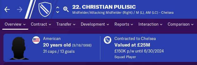 FM20 Wonderkid Analysis - Christian Pulisic