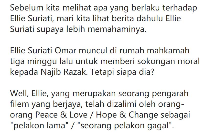 Ellie Suriati Disiasat Terima Dedak 200 Juta Bussines Melayu